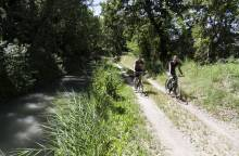 Cycle route - around Carpentras Canal