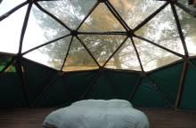 Dôme géodésique à la Ferme Roumavagi