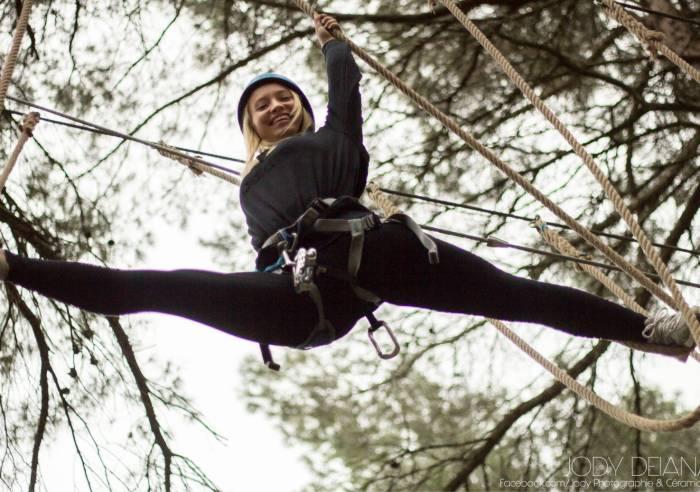 Parcours aérien en forêt - Passerelle des Cîmes