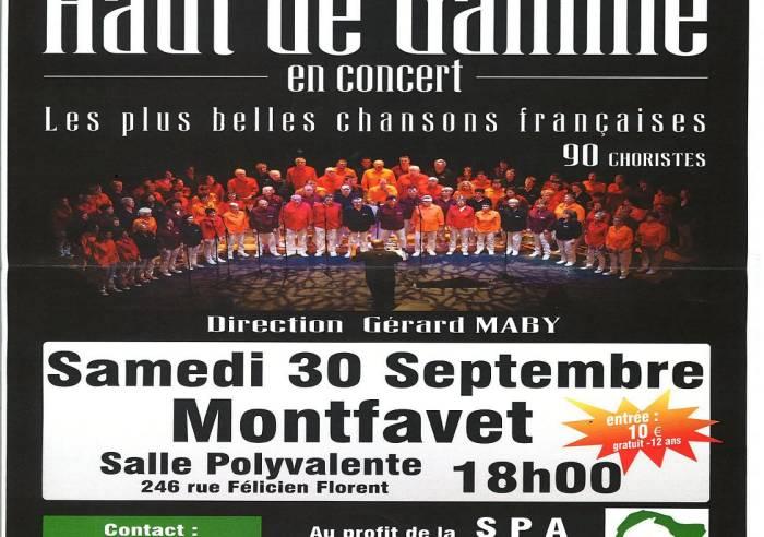 La chorale Haut de Gamme en concert