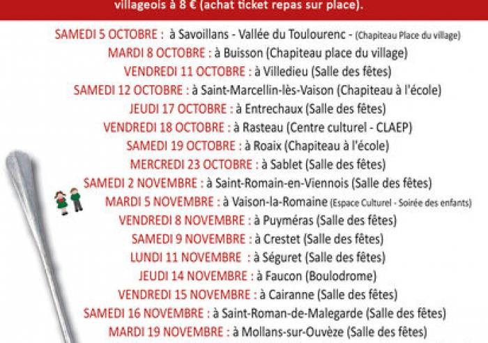 Le Festival des Soupes Vaison Ventoux - 29e édition