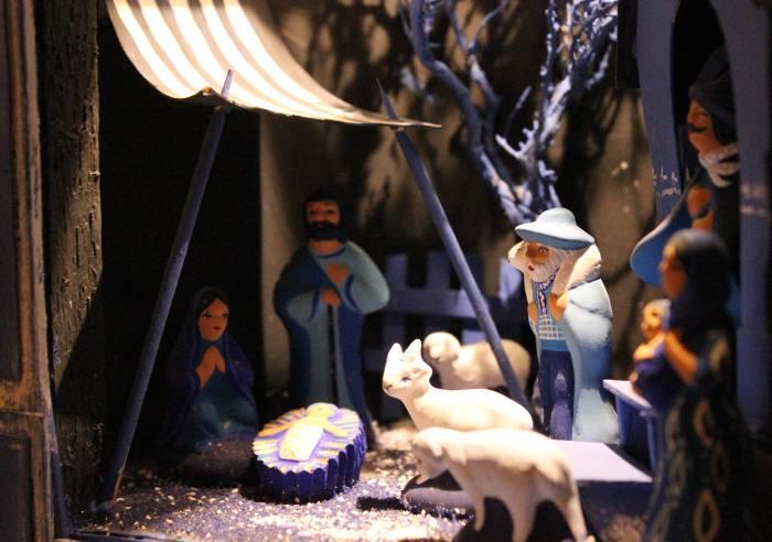 Les santons bleus de Véronique Dornier