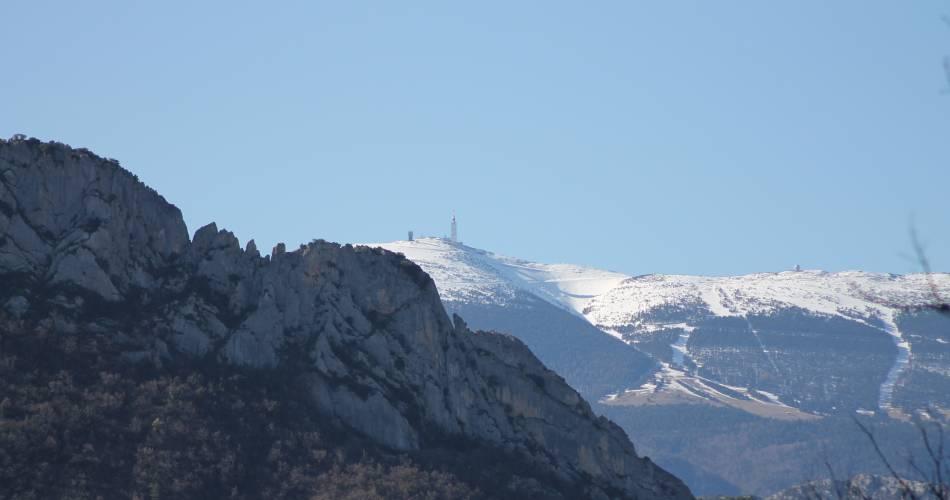 Section 2.1 Malaucène - Lafare / Vaucluse long distance mountain bike trail@Droits gérés Alain Hocquel ADT