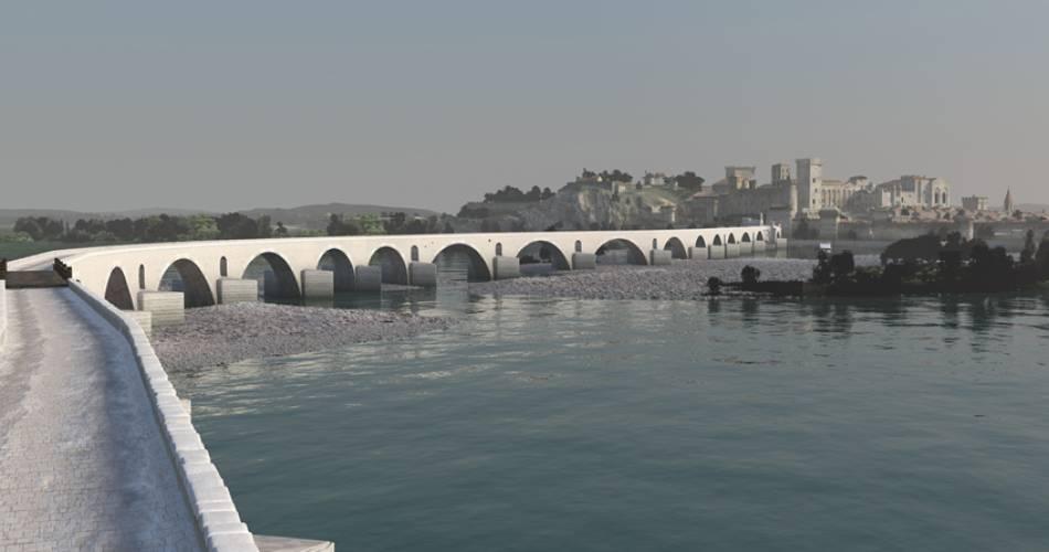 Pont d'Avignon (Saint-Bénezet)@Droits gérés UMR 3495 CNRS MCC