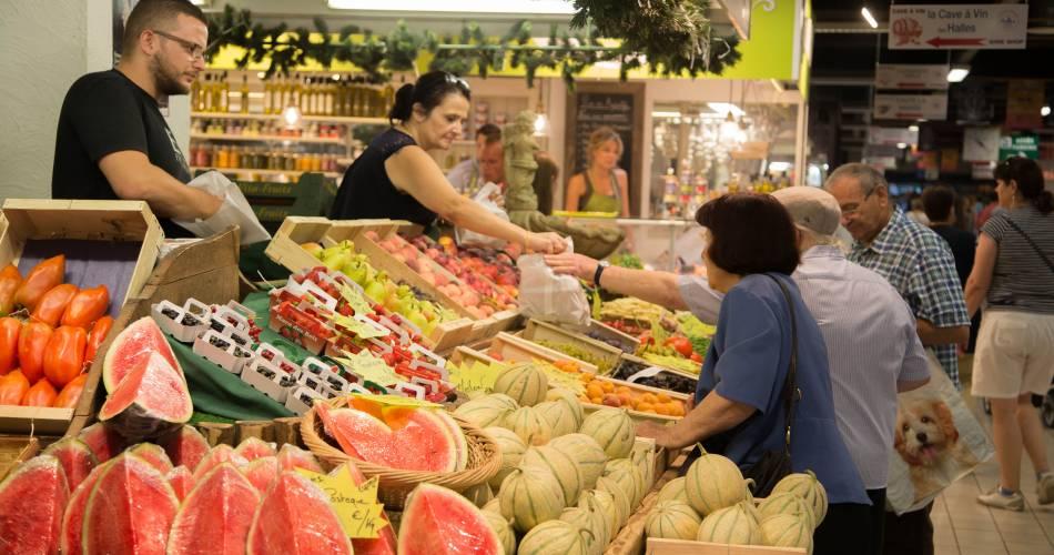 Les Halles Gourmandes - marché couvert@HOCQUEL A. / Col. Vaucluse Provence