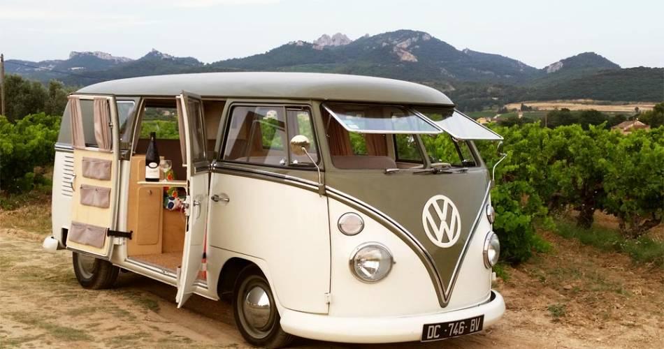 Balade en Combi Volkswagen et dégustation au Domaine de la Tourade@Domaine de la Tourade
