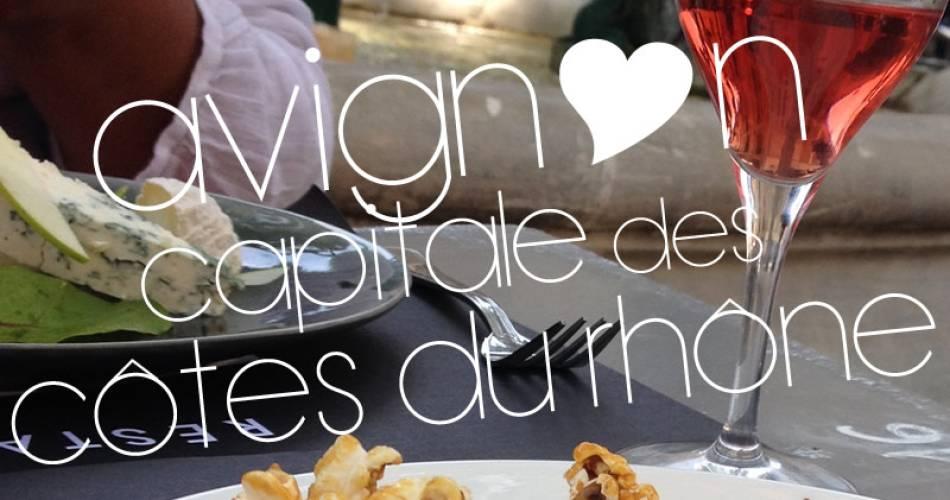 Avignon, capital city of Côtes du Rhône wines.@avignon tourisme