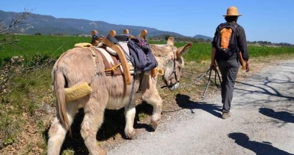 Découverte géologique de Cabrières-d'Aigues avec un âne@OT LUB