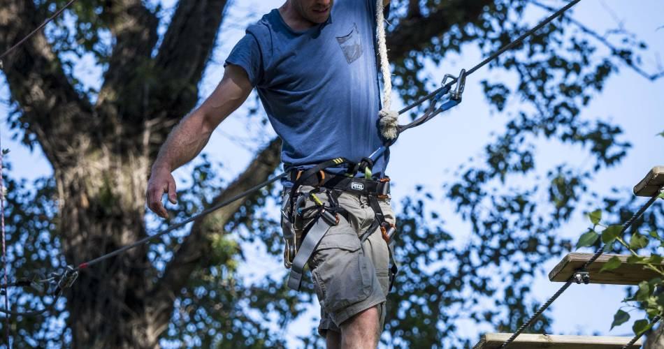 Parcours aventure dans les arbres