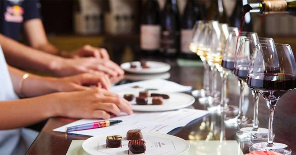 Wine and chocolate pairing@© Chocolaterie Castelain