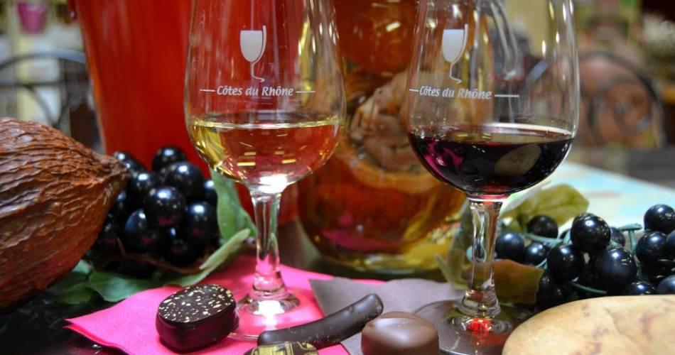 Wine and chocolate pairing@Châteauneuf-du-Pape Tourisme et Atelier Réan