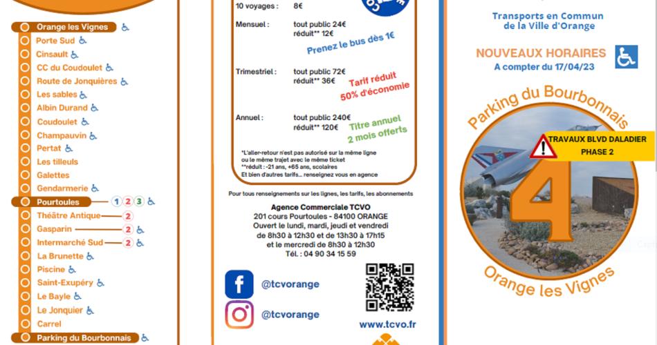 Ligne 4 : Bourbonnais <> Pourtoules <> Orange les Vignes@Ligne 4 TCVO