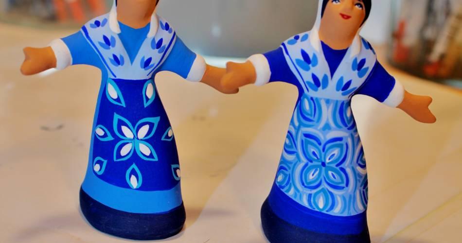 Les santons bleus de Véronique Dornier@Veronique Dornier